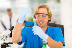 Medical researcher liquid Royalty Free Stock Images