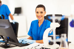 Medical researcher working Stock Image