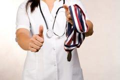 Medical reward. A rewrding career in medical field stock images