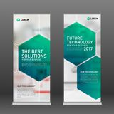 Medical roll up banner design layout. Vertical banner design template vector illustration