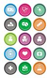 Medical round icon sets Royalty Free Stock Images
