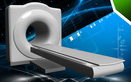 Medical scanner. Digital illustration of Medical scanner in colour background Royalty Free Stock Photos