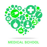 Medical School Represents University Learning And Educating Royalty Free Stock Photo