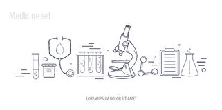 Medical science chemistry hand-drawn design  Royalty Free Stock Photo