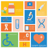 Medical Science and and Health set. Stock Photography