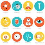 Medical Science Icon Set Royalty Free Stock Images