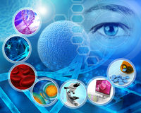 Medical science. And scientific research abstract backdrop Stock Photos