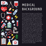 Medical and science vector background with place for your text. Modern flat design. vector illustration