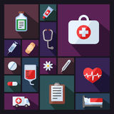 Medical and science vector background with sectors. Modern flat design. Royalty Free Stock Photos