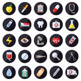 Medical and science vector icons set. Modern flat design. stock illustration