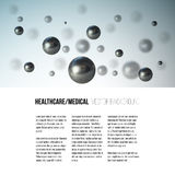 Medical scientific cell. Abstract graphic design of molecule structure, vector background for brochure, flyer or banner Stock Photography