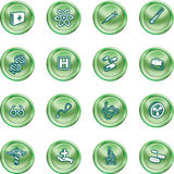 Medical and scientific icons. Stock Image