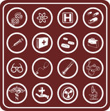 Medical and scientific icons. royalty free stock image