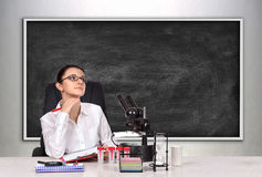 Medical or scientific researcher female Stock Image