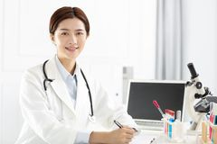 medical or scientific researcher working in office Stock Photography