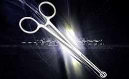 Medical scissor tool Stock Image