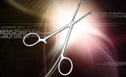 Medical scissor tool Royalty Free Stock Image