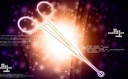 Medical scissor tool. In digital background royalty free stock image