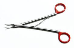 Medical scissors. A scissors for the medical operation Stock Photo