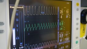 Medical screen with readings of vital signs. 4K stock video
