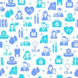 Medical seamless pattern background Royalty Free Stock Photography