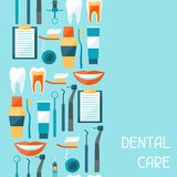 Medical seamless pattern with dental equipment Stock Images