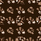 Medical Seamless pattern. Flat icons of the human organs royalty free illustration