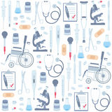 Medical seamless pattern Royalty Free Stock Images