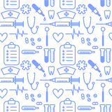 Medical seamless pattern Royalty Free Stock Image