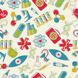 Medical seamless pattern Stock Photos