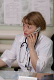 Medical secretary stock photography