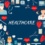 Medical services and hospital flat background Royalty Free Stock Images