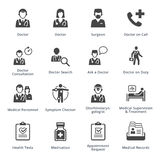 Medical Services Icons Set 3 - Black Series. This set contains medical services icons that can be used for designing and developing websites, as well as printed Royalty Free Stock Photos