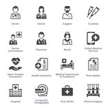 Medical Services Icons Set 4 - Black Series. This set contains medical services icons that can be used for designing and developing websites, as well as printed Stock Photography