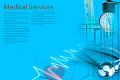 Medical Services Photo Collage Royalty Free Stock Images