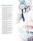 Medical services photo collage Royalty Free Stock Image