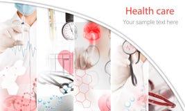 Medical services photo collage Stock Photos