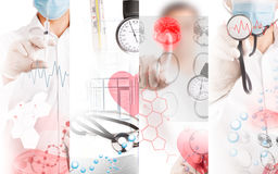 Medical services photo collage Stock Images