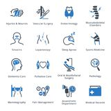 Medical Services & Specialties Icons Set 5 - Blue Series vector illustration