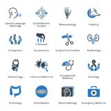 Medical Services & Specialties Icons Set 4 - Blue Series royalty free illustration