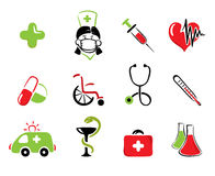 Medical set. Vector illustration - collection of objects on the theme of medicine Royalty Free Stock Photography