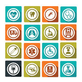 Medical. Set of colorful and flat medical icons Royalty Free Stock Image