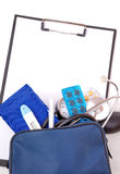 Medical set for first aid Stock Image
