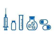 Medical set. Outline design. Vector illustration stock illustration