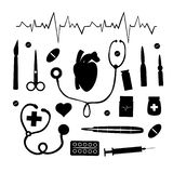 Medical set on a white background vector illustration