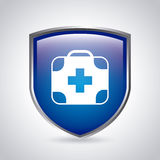 Medical shield Stock Image