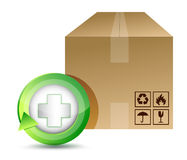 Medical shipping box illustration design Royalty Free Stock Photo