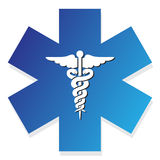 Medical sign. Medical blue sign on the white background Stock Photo