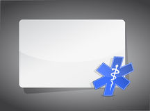 Medical sign presentation board Royalty Free Stock Image