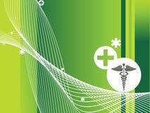 Medical sign wave background Stock Photo
